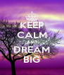 KEEP CALM AND DREAM BIG - Personalised Poster A4 size