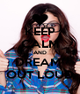 KEEP CALM AND DREAM  OUT LOUD - Personalised Poster A4 size