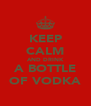 KEEP CALM AND DRINK A BOTTLE OF VODKA - Personalised Poster A4 size