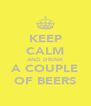 KEEP CALM AND DRINK A COUPLE OF BEERS - Personalised Poster A4 size