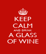 KEEP CALM AND DRINK A GLASS OF WINE - Personalised Poster A4 size