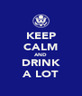KEEP CALM AND DRINK A LOT - Personalised Poster A4 size