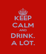 KEEP CALM AND DRINK. A LOT. - Personalised Poster A4 size