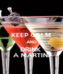 KEEP CALM AND DRINK  A MARTINI - Personalised Poster A4 size