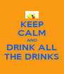 KEEP CALM AND DRINK ALL THE DRINKS - Personalised Poster A4 size