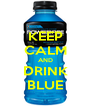 KEEP CALM AND DRINK BLUE - Personalised Poster A4 size