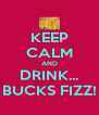 KEEP CALM AND DRINK... BUCKS FIZZ! - Personalised Poster A4 size
