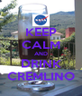 KEEP CALM AND DRINK CREMLINO - Personalised Poster A4 size