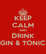 KEEP CALM AND DRINK GIN & TONIC - Personalised Poster A4 size