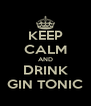 KEEP CALM AND DRINK GIN TONIC - Personalised Poster A4 size