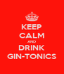 KEEP CALM AND DRINK GIN-TONICS - Personalised Poster A4 size