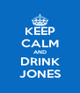 KEEP CALM AND DRINK JONES - Personalised Poster A4 size