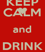 KEEP CALM and DRINK LATTUCCIO - Personalised Poster A4 size