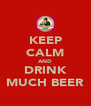 KEEP CALM AND DRINK MUCH BEER - Personalised Poster A4 size