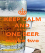 KEEP CALM AND DRINK ONE BEER maybe two - Personalised Poster A4 size