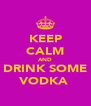 KEEP CALM AND DRINK SOME VODKA  - Personalised Poster A4 size