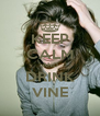 KEEP CALM AND DRINK VINE - Personalised Poster A4 size