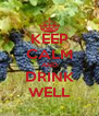 KEEP CALM AND DRINK WELL - Personalised Poster A4 size