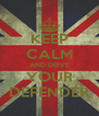 KEEP CALM AND DRIVE YOUR DEFENDER - Personalised Poster A4 size