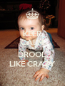 KEEP CALM AND DROOL LIKE CRAZY - Personalised Poster A4 size