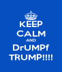 KEEP CALM AND DrUMPf TRUMP!!!! - Personalised Poster A4 size