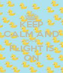 KEEP CALM AND DUCK  FLIGHT IS ON - Personalised Poster A4 size