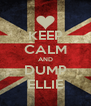 KEEP CALM AND DUMP ELLIE - Personalised Poster A4 size