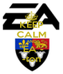 "KEEP CALM AND ""EA""- -ton - Personalised Poster A4 size"