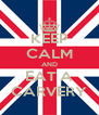 KEEP CALM AND EAT A CARVERY - Personalised Poster A4 size