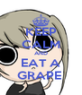 KEEP CALM AND EAT A GRAPE  - Personalised Poster A4 size