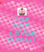 KEEP CALM AND EAT A SUGAR CUPCAKE - Personalised Poster A4 size