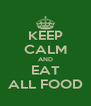 KEEP CALM AND EAT ALL FOOD - Personalised Poster A4 size