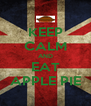 KEEP CALM AND EAT APPLE PIE - Personalised Poster A4 size