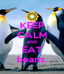 KEEP CALM AND EAT beans. - Personalised Poster A4 size