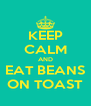 KEEP CALM AND EAT BEANS ON TOAST - Personalised Poster A4 size