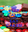 KEEP CALM AND EAT CAKES! - Personalised Poster A4 size