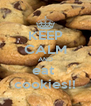 KEEP CALM AND eat  cookies!! - Personalised Poster A4 size