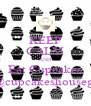 KEEP CALM AND Eat Cupcakes @cupcakeshousegt - Personalised Poster A4 size