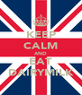 KEEP CALM AND EAT DAIRYMILK - Personalised Poster A4 size