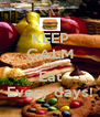 KEEP CALM AND Eat Every days! - Personalised Poster A4 size