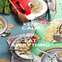 KEEP CALM AND EAT EVERYTHING - Personalised Poster A4 size