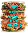 KEEP CALM AND EAT FOOD:) - Personalised Poster A4 size