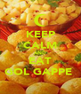 KEEP CALM AND EAT GOL GAPPE  - Personalised Poster A4 size