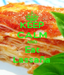 KEEP CALM AND Eat Lassaña - Personalised Poster A4 size