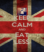 KEEP CALM AND EAT LESS - Personalised Poster A4 size