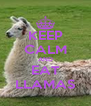 KEEP CALM AND EAT LLAMAS - Personalised Poster A4 size