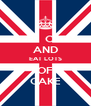 KEEP  CALM AND EAT LOTS OF CAKE - Personalised Poster A4 size