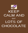 KEEP CALM AND EAT LOTS OF CHOCOLATE - Personalised Poster A4 size