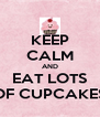 KEEP CALM AND EAT LOTS OF CUPCAKES - Personalised Poster A4 size