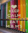 KEEP CALM AND EAT M & M'S - Personalised Poster A4 size
